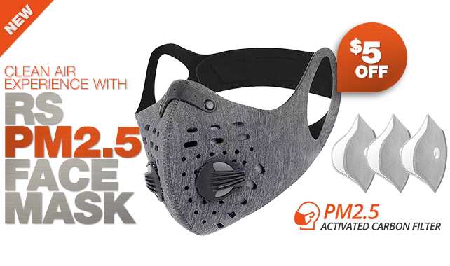 RigSleeve - Clean air experience with RS PM2.5 face Mask