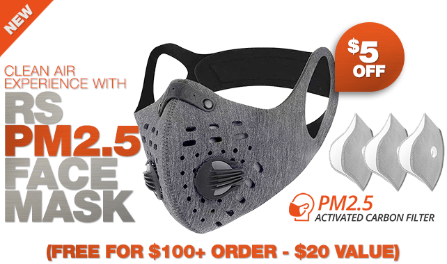 RigSleeve - Clean air experience with RS PM2.5 face Mask (FREE FOR $100+ ORDER - $20 value)
