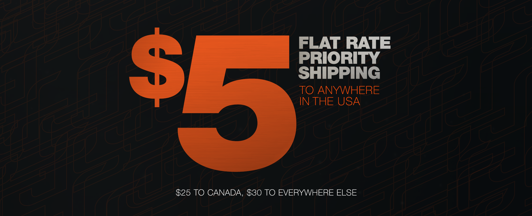 $5 Flat Rate Priority Shipping to anywhere in the USA, $25 to Canada, $30 to everywhere else